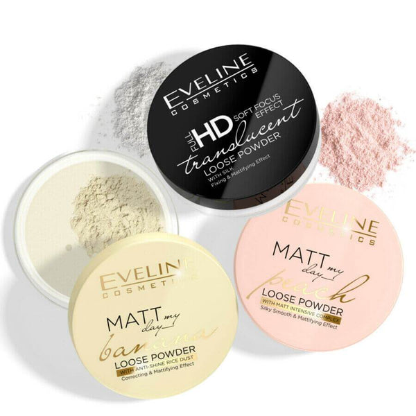 eveline matt my day banana peach makeup powder