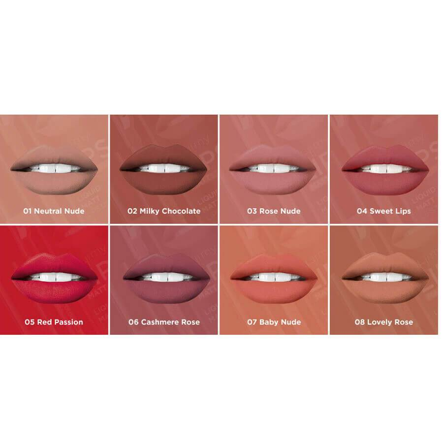 eveline cosmetics lip kit oh my lips liquid matt lipstick and lip pencil 01
