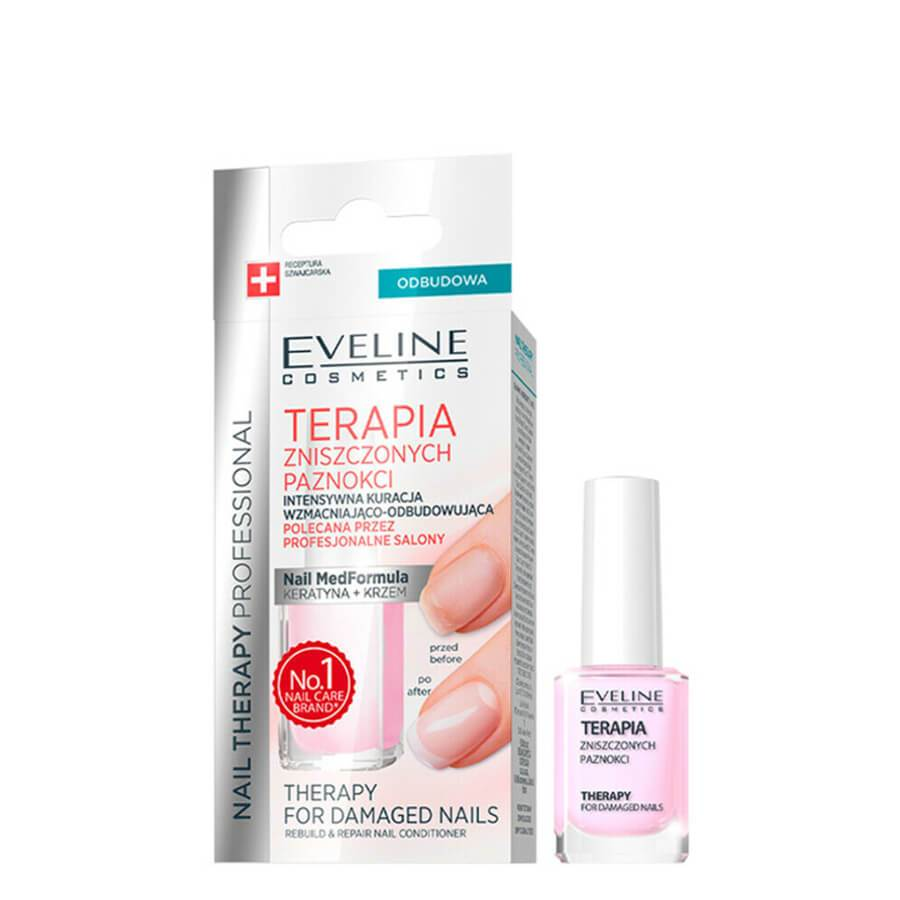 Eveline Therapy for Damaged Nails Rebuild and Repair Nail Conditioner
