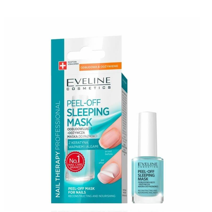 Eveline Peel Off Sleeping Mask for Nails Conditioner nourishing repairing breaking nails