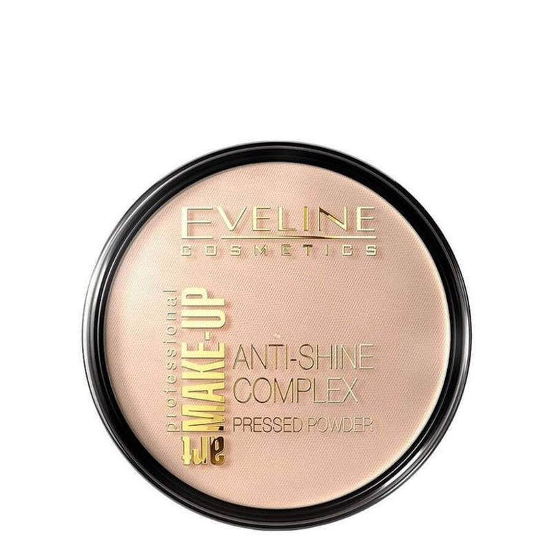 eveline anti shine pressed powder golden sand