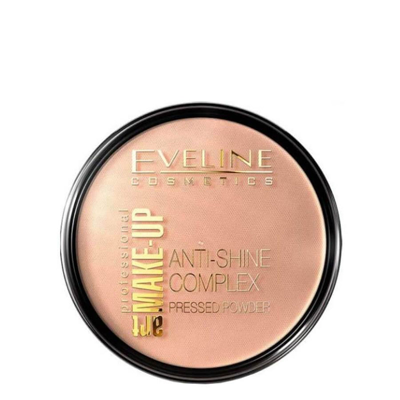 eveline anti shine pressed powder medium beige