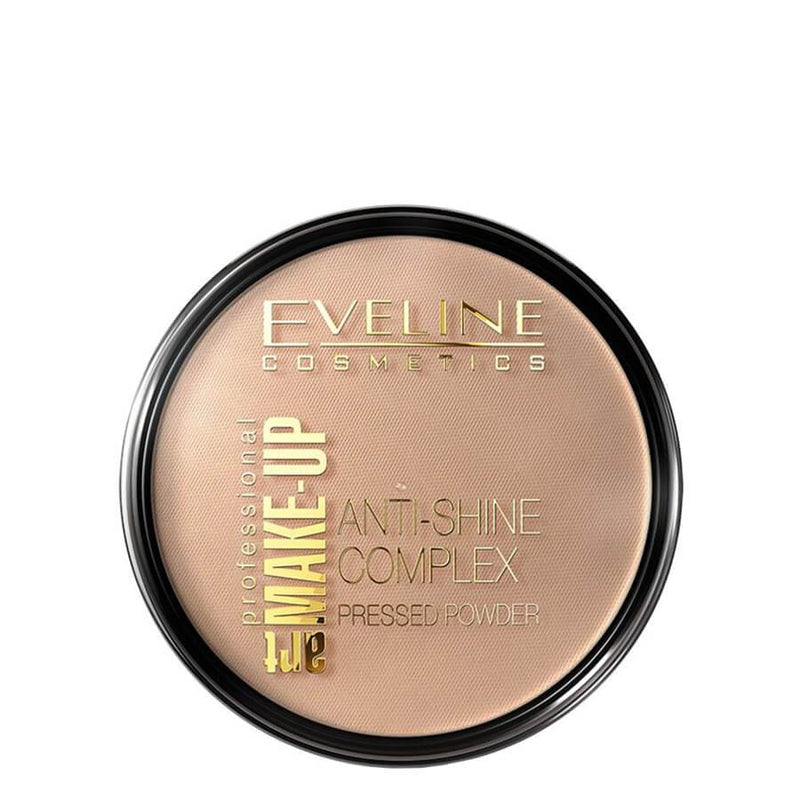 eveline anti shine pressed powder golden beige