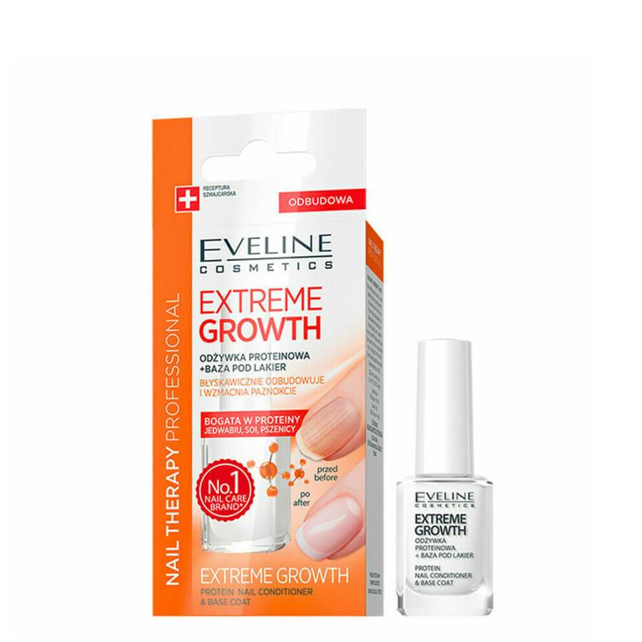 Eveline Nail Therapy Extreme Growth Protein Nail Conditioner and Base Coat