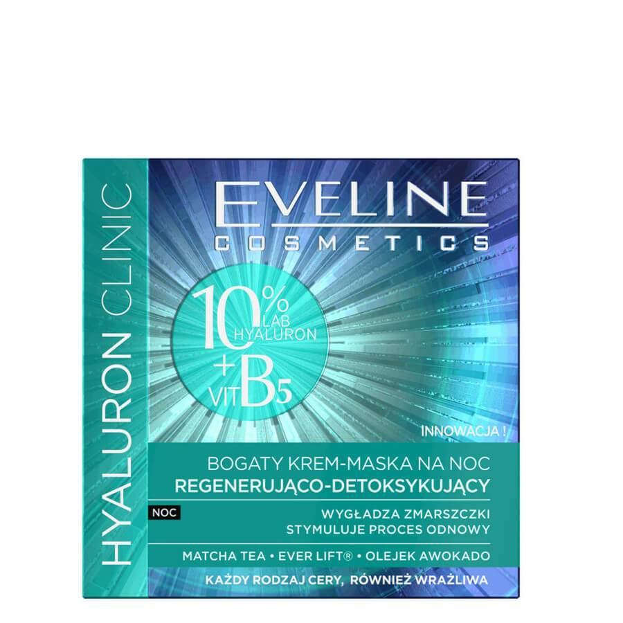 eveline cosmetics face cream mask for night hyaluroni clinic 50ml