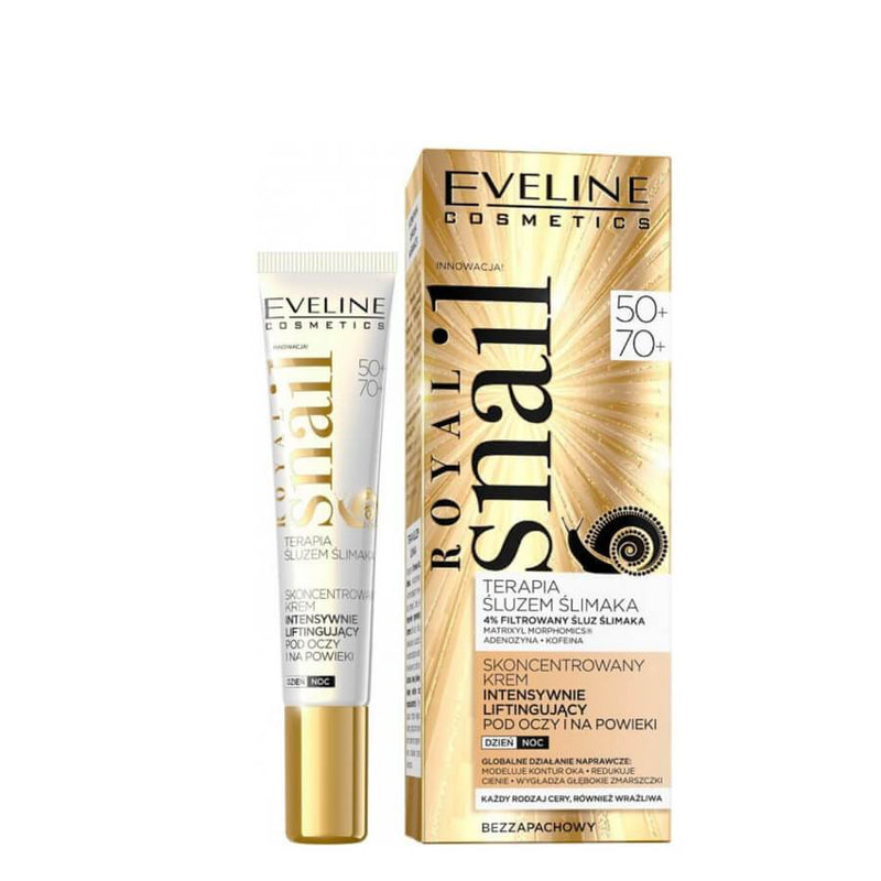 eveline cosmetics concentrated lifting eye cream royal snail