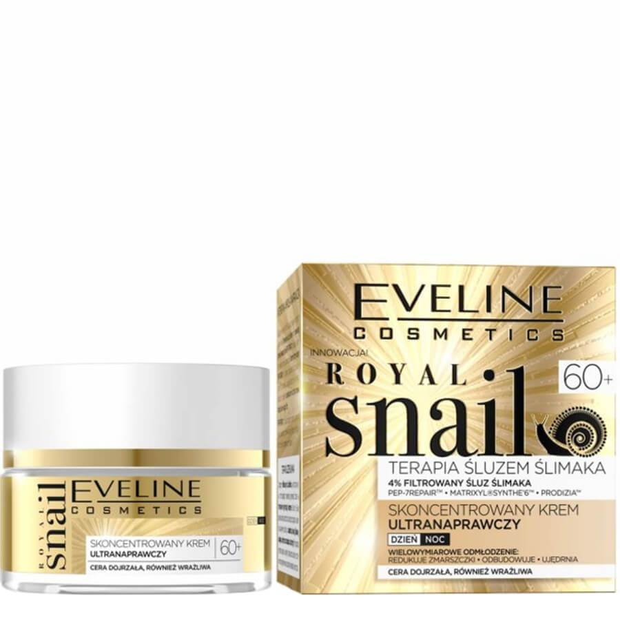 Eveline Royal Snail Ultra Repair 60+ Cream anti ageing anti age snail filtrate slime mucus