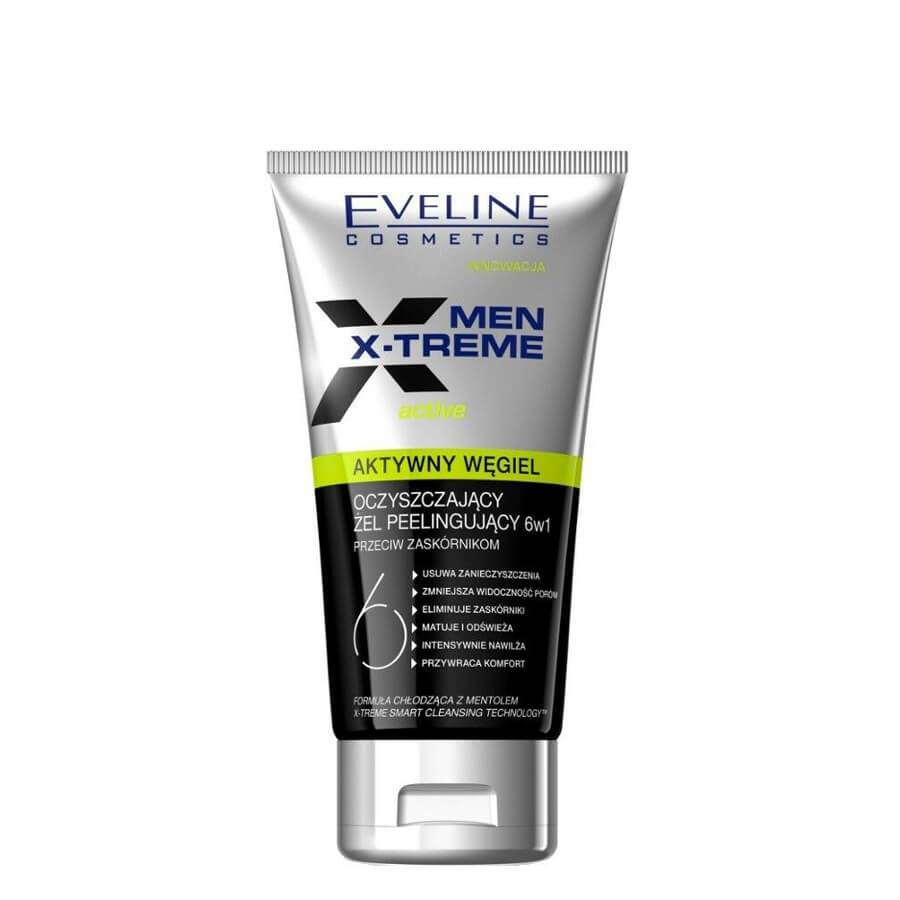 eveline cosmetics face cleansing gel for men active carbon