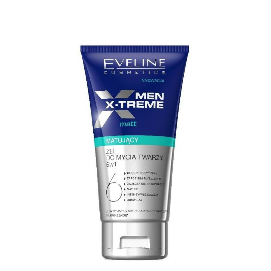 eveline cosmetics x treme men face cleansing gel 6in1