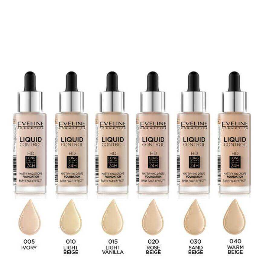 Eveline liquid control foundation 005