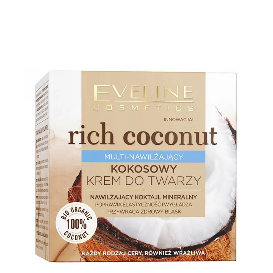 eveline cosmetics mineral coctail coconut face cream 50ml