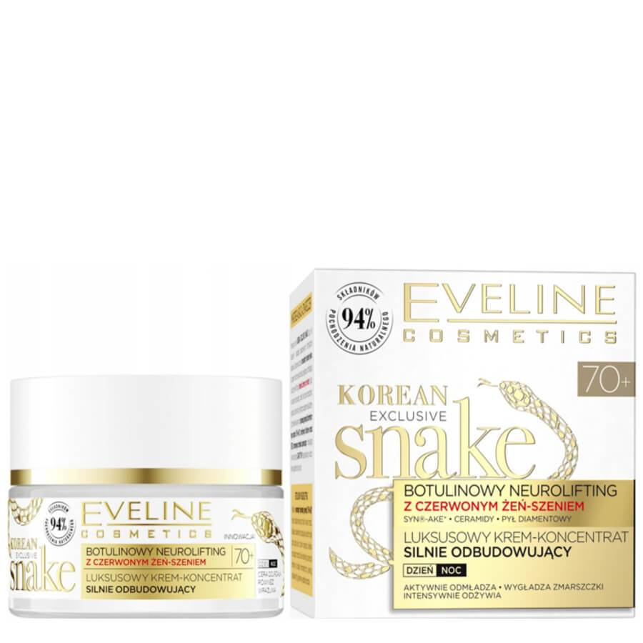 eveline korean cnake cream 70 rebuilding cream day night