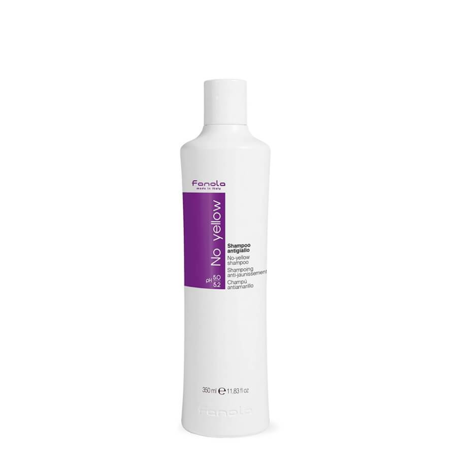 fanola no yellow shampoo for blonde hair eliminate yellow shade antiyellow 350ml
