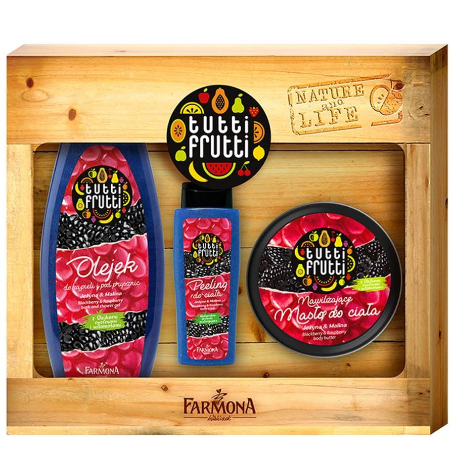 Farmona Gift Set Blackberry and Raspberry Shower Gel Body Butter Scrub