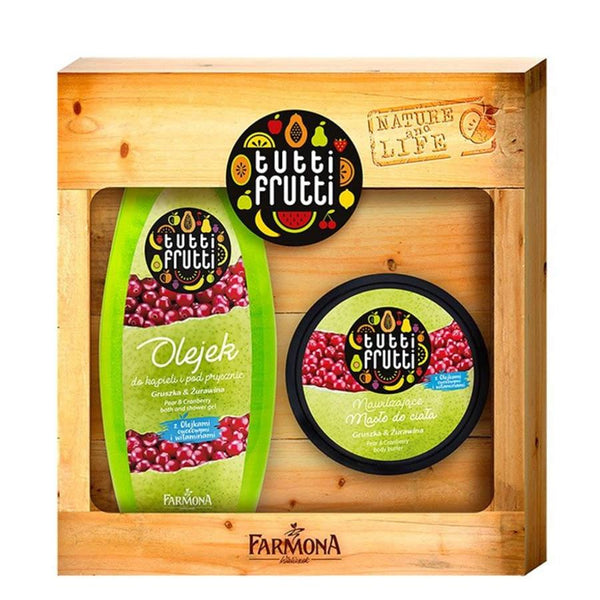 Farmona Gift Set Pear and Cranberry Shower Gel and Body Butter