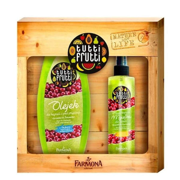 Farmona Gift Set Pear and Cranberry Shower Gel and Body Mist