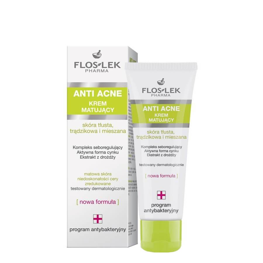 FlosLek Anti Acne Mattifying Face Cream combination mixed