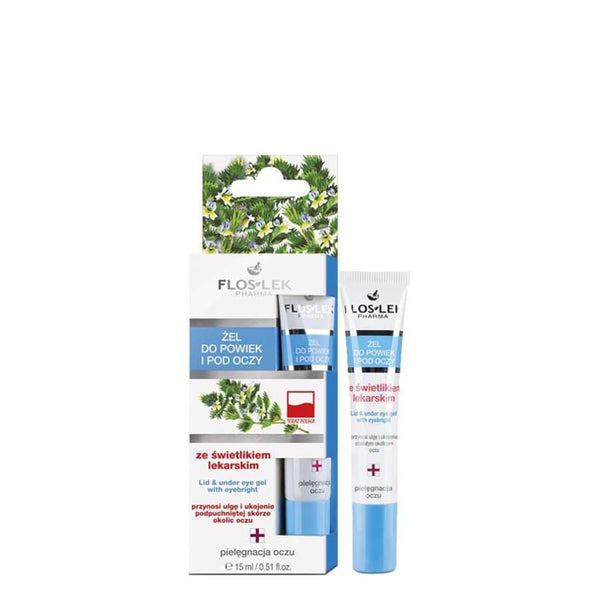 floslek vegan eye gel cream with eyebright 15ml