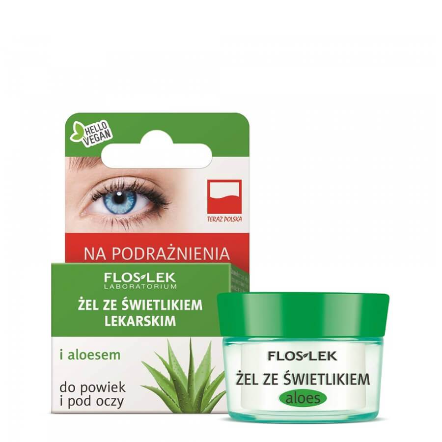 floslek under eye cream aloe vegan in jar 10g