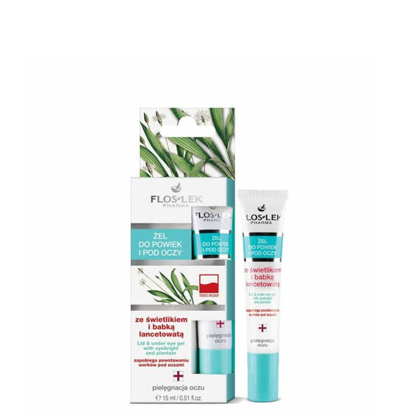 floslek vegan eye gel wit eyebright and plantain 15ml