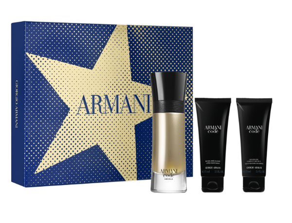 Giorgio Armani Code set Absolu Eau de Toilette Spray 60ml + Body Lotion 75ml + Shower Gel 75ml
