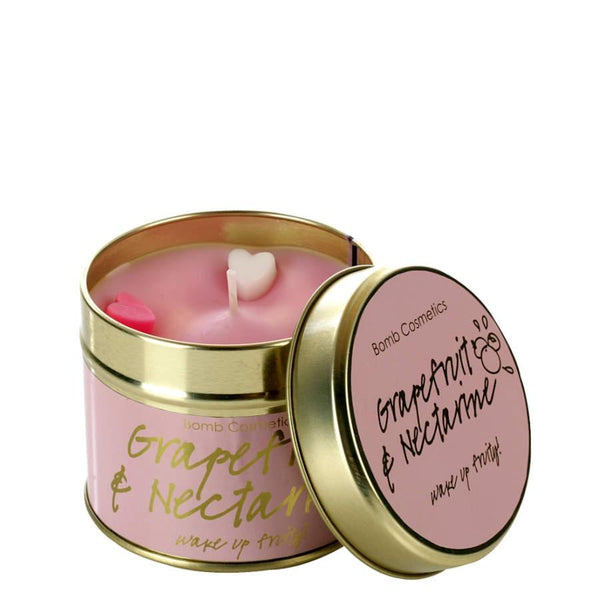 Bomb Cosmetics Grapefruit and Nectarine Tin Candle