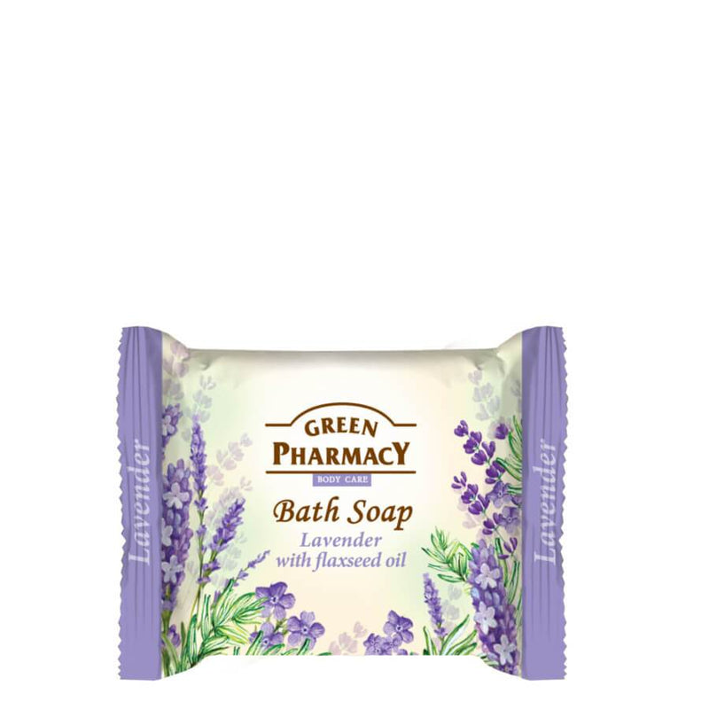 Green Pharmacy Bath Soap Bar Lavender & Flaxseed Oil