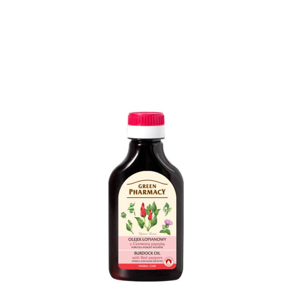 Green Pharmacy Burdock Oil with Red Pepper Stimulates Hair Growth