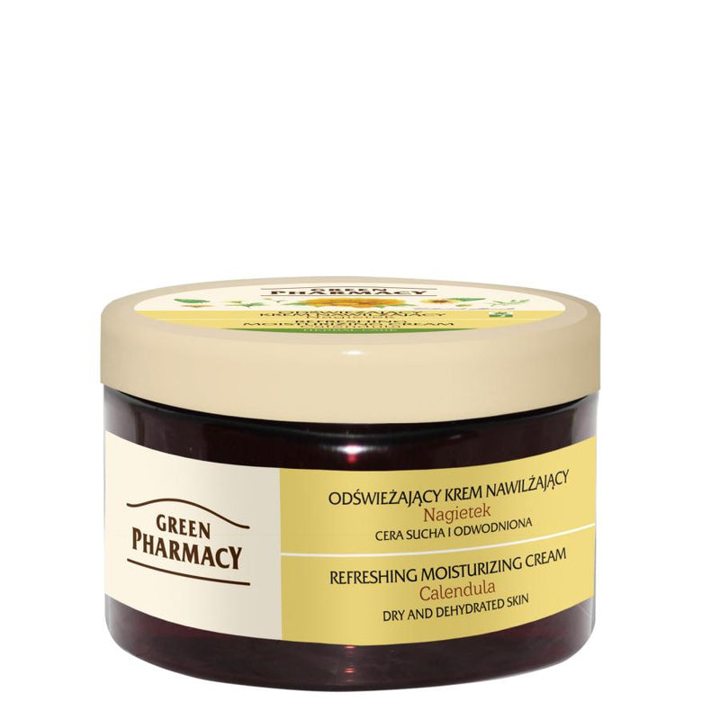 Green Pharmacy Refreshing & Moisturizing Face Cream with Calendula for dry skin