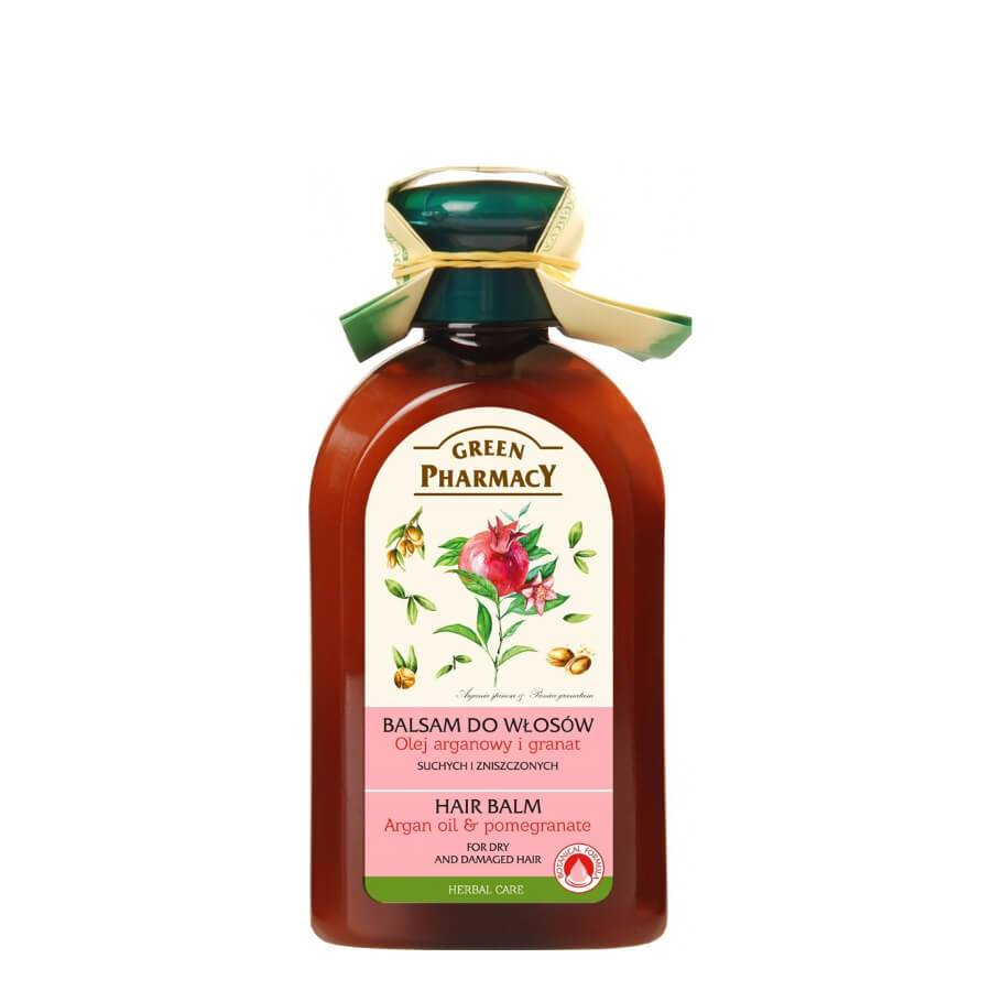 Green Pharmacy Hair Balm with Argan Oil & Pomegranate for Damaged Hair