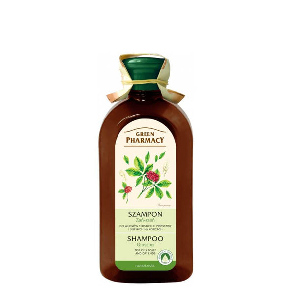 Green Pharmacy Shampoo with Ginseng for Oily Scalp & Dry Ends