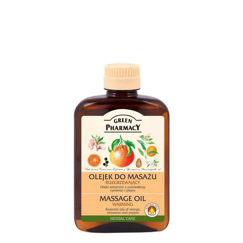 Green Pharmacy Warming Massage Body Oil with Orange & Cinnamon