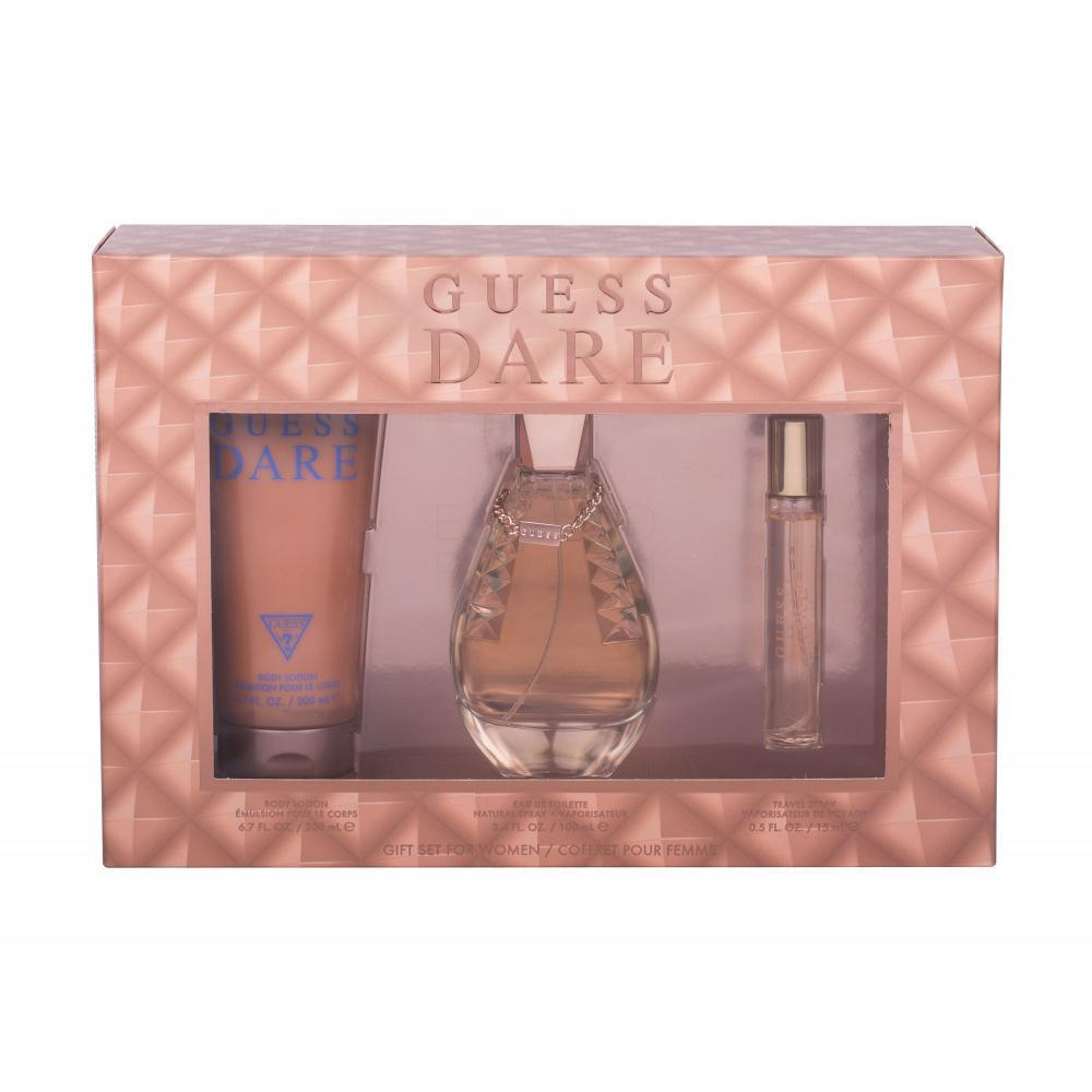 Guess Dare set Eau de Toilette Spray 100ml + EDT 15ml + Body Lotion 200ml