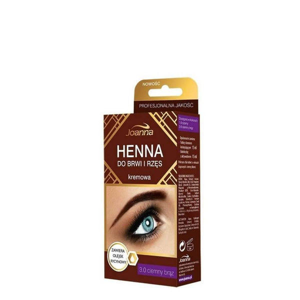 Joanna Henna Cream Eyebrow &  Eyelash Tint brown