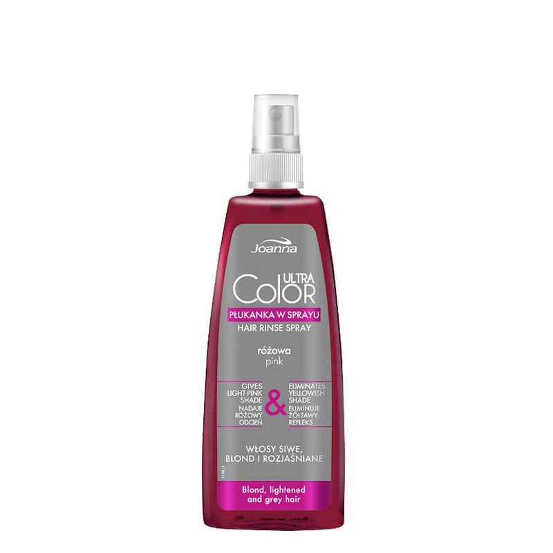 joanna ultra color pink hair rinse spray eliminete yellow shade