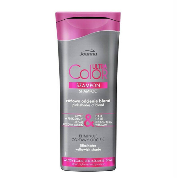 joanna ultra color system shampoo pink shade eliminates yellow shade blonde hair