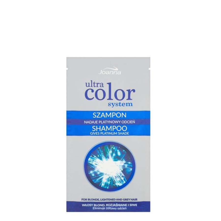 Joanna Ultra Color Silver Platinum Shampoo Eliminate Yellow Shade 20ml
