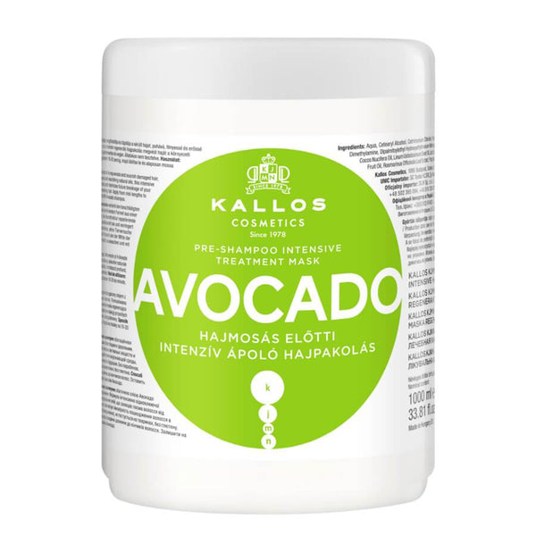 Kallos Avocado pre shampoo hair mask 1000ml
