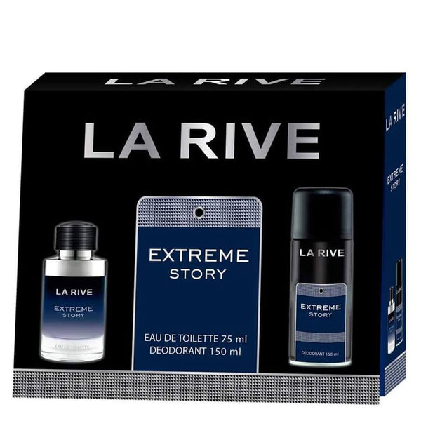 La Rive Gift Set EDT 75ml & Deodorant 150ml Extreme Story Men