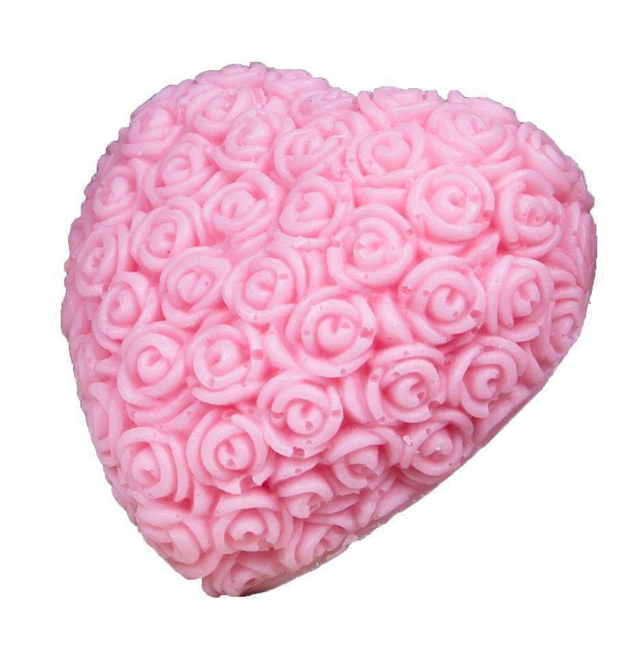 LaQ Happy Pink Big Heart Soaps Natural Glycerine Soap Cherry 140g