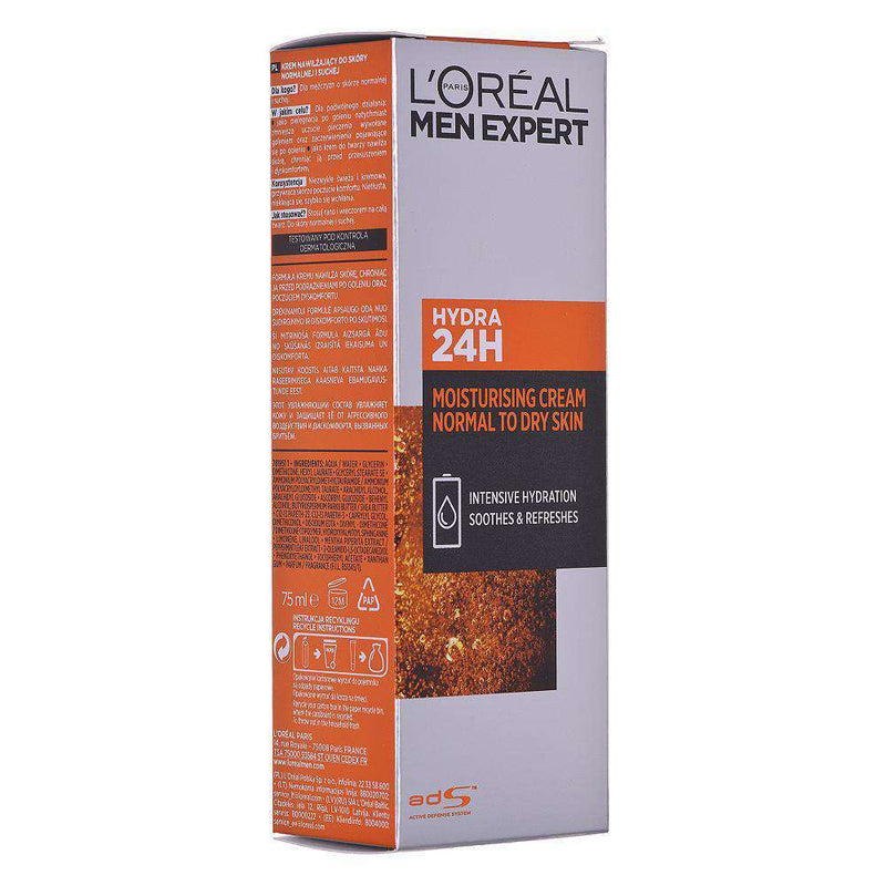 L'Oreal Paris Men Expert Hydra 24 moisturizer for Normal to Dry Skin 75ml