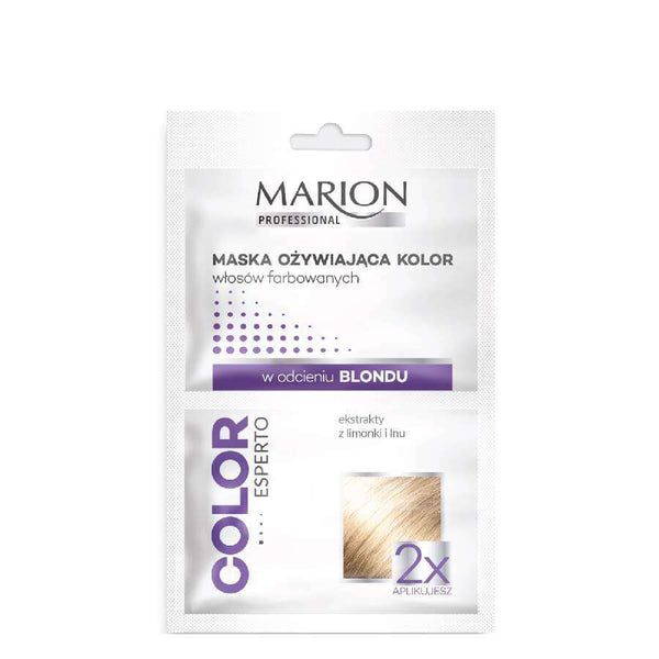 marion silver mask blonde hair color esperto