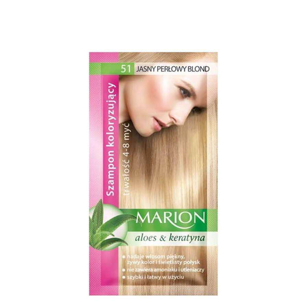 marion colouring hair shampoo 51 light pearl blonde