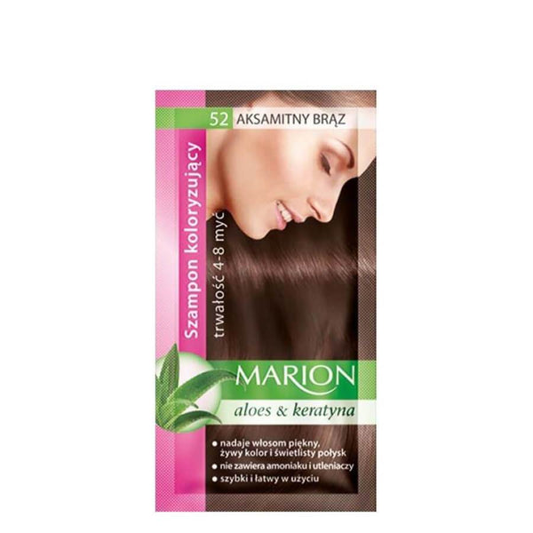 marion colouring hair shampoo 52 velvet brown
