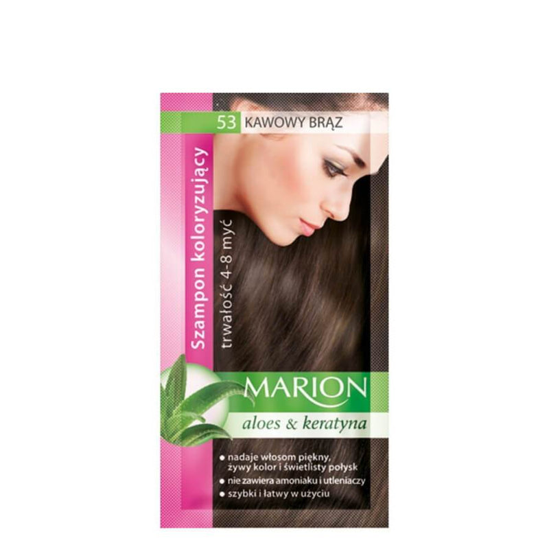 marion colouring hair shampoo 53 coffe brown