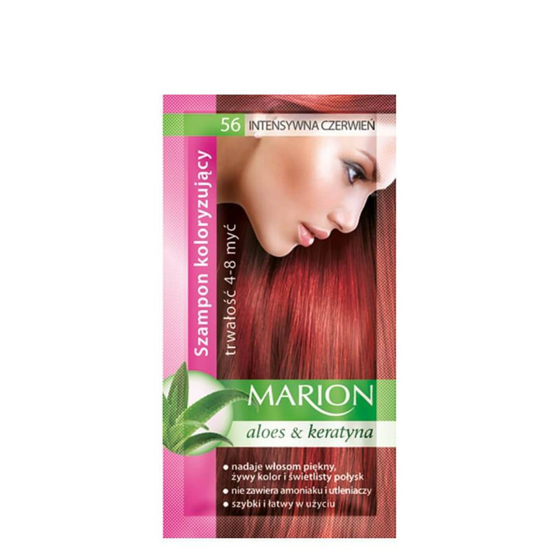 marion colouring hair shampoo 56 intensive red