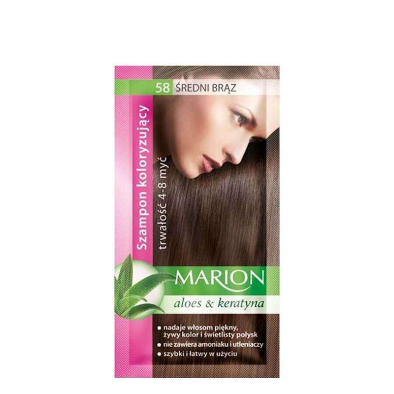 marion colouring hair shampoo 58 medium brown