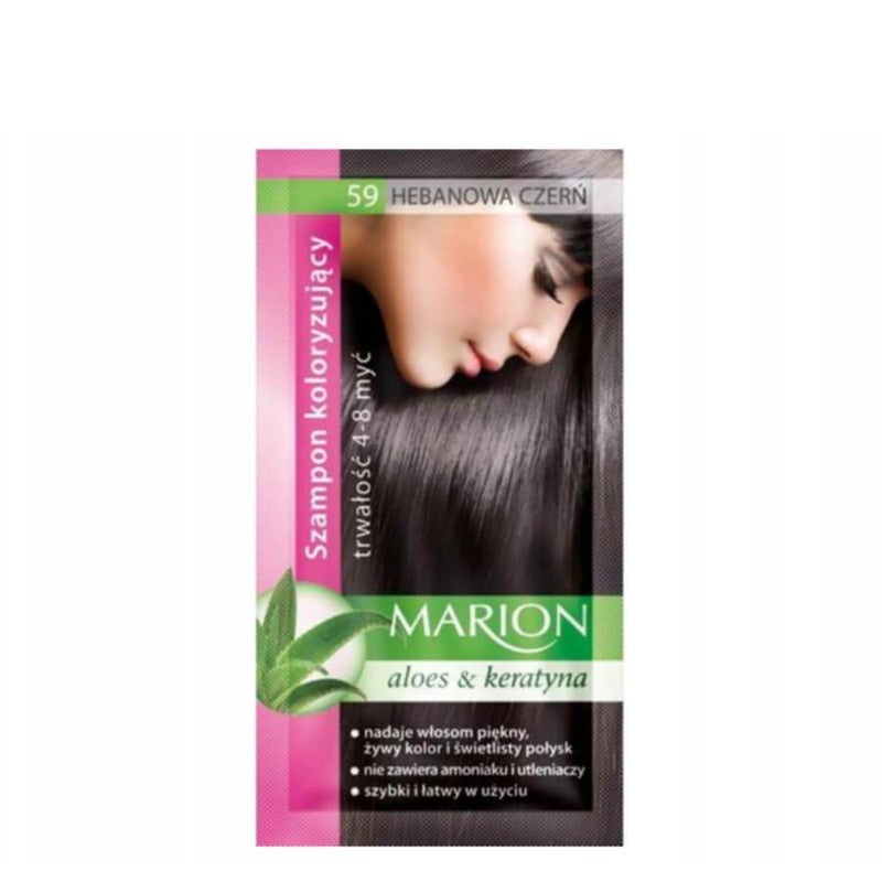 marion colouring hair shampoo 59 ebony black