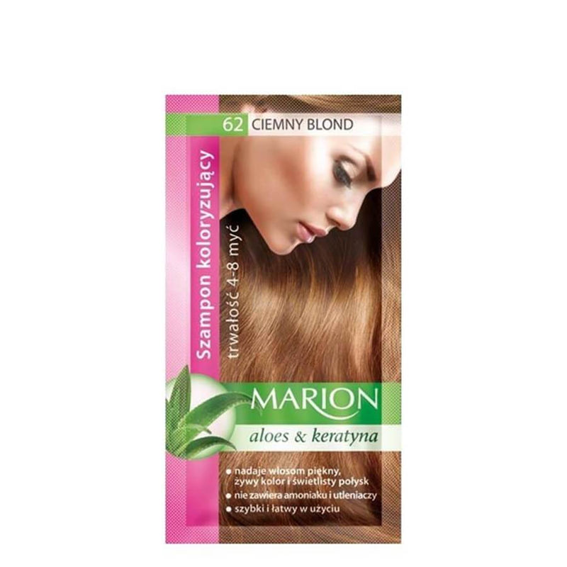marion colouring hair shampoo 62 dark blonde