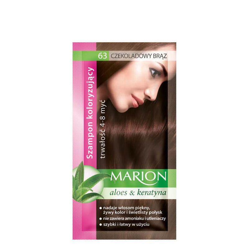 marion colouring hair shampoo 63 chocolate brown